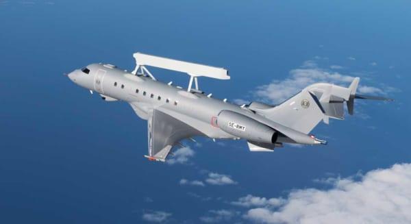 サーブの小型早期警戒管制機「グローバルアイ」初飛行
