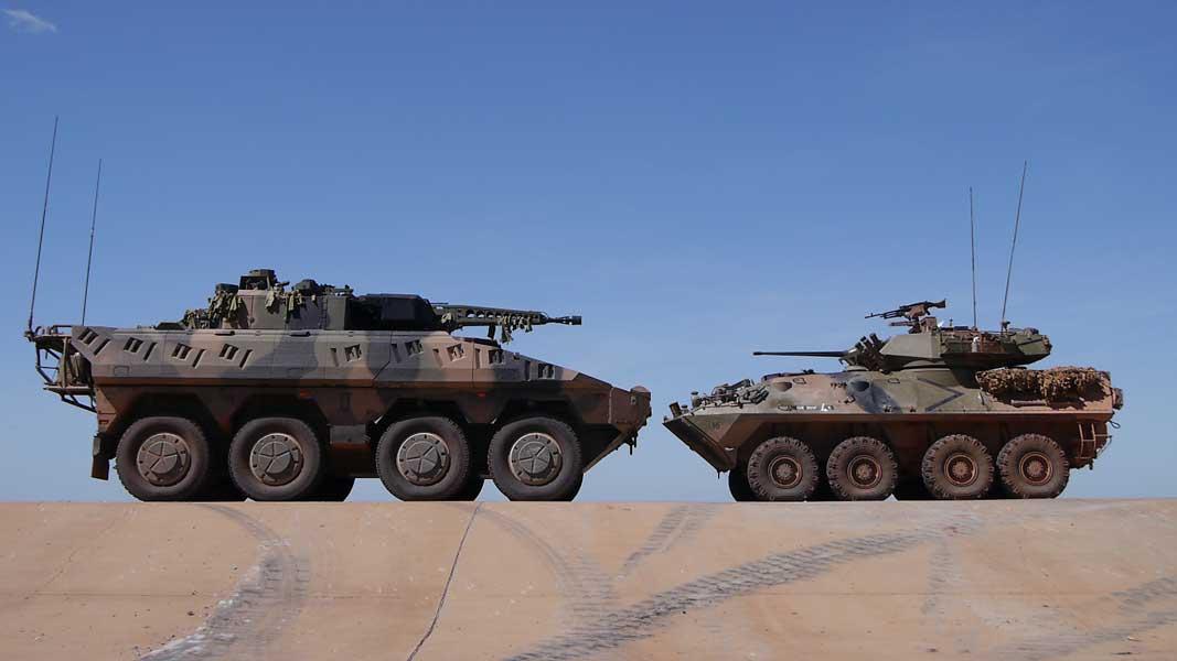 ボクサーCRV(左)とAMV35(右)(Image:Commonwealth of Australia 2017)