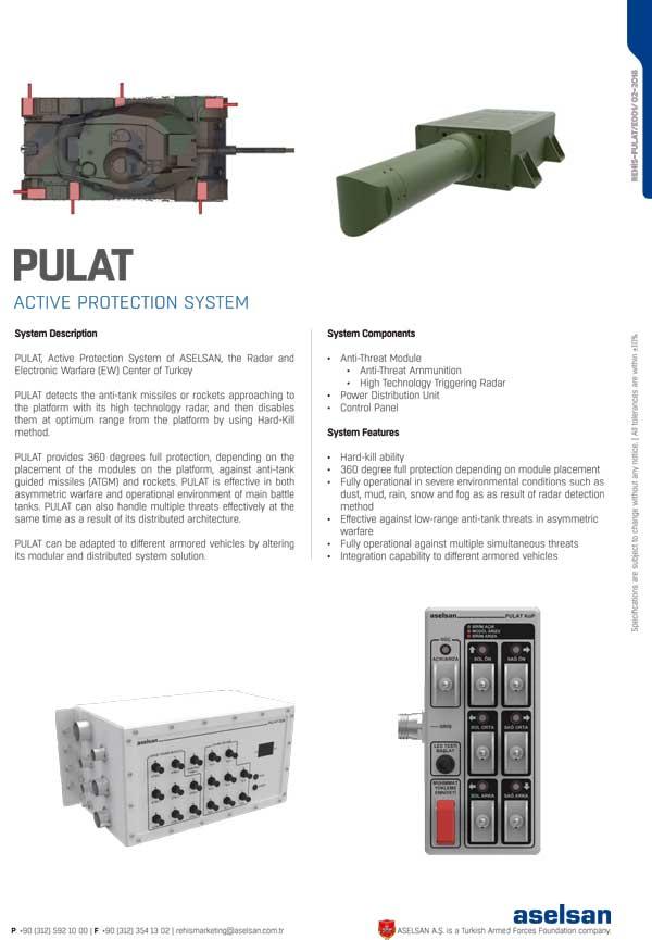 ミサイルを「迎撃」するトルコの対戦車ミサイル防御システム