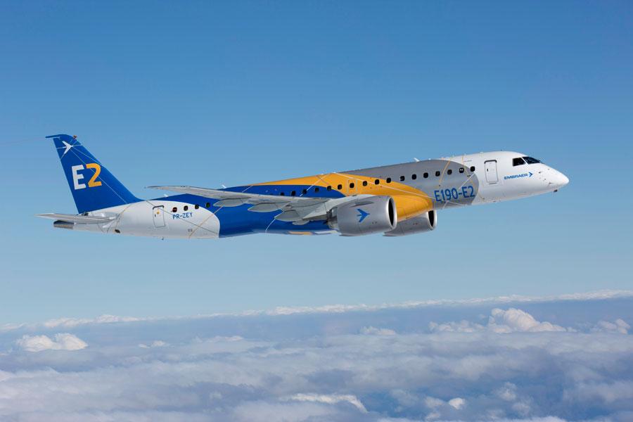 エンブラエルE190-E2がアメリカ、ヨーロッパ、ブラジルの型式証明を取得