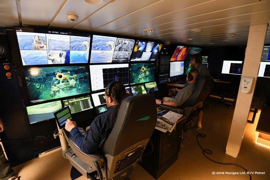 調査船ペトレルのコントロールルーム(Image Credit:Courtesy by Paul G. Allen)