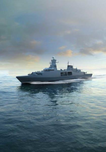 BAEシステムズの31e型フリゲート設計案(Image:BAE Systems)