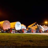 全日空向けエアバスA380初号機・最終組み立て工場に主要部品…