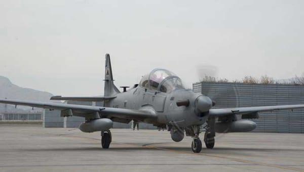 阿富汗空军使用激光制导炸弹