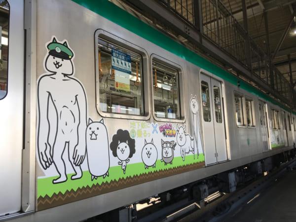 京都・地下鉄で「にゃんこトレイン」運行 「にゃんこ大戦争」5周年記念し大規模コラボ