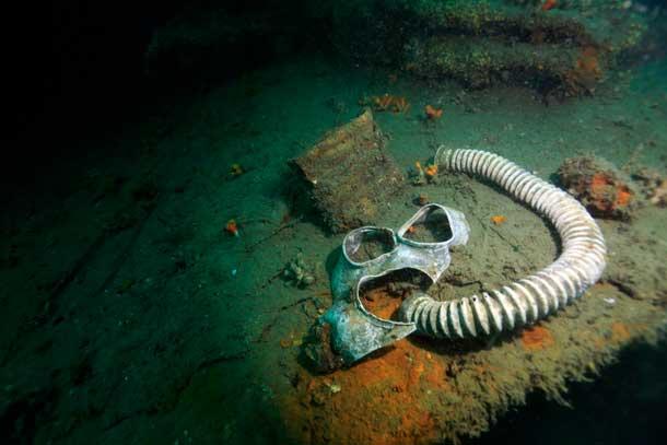 戦艦「陸奥」の防毒面