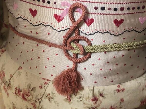 和服の帯を締めるのが楽しくなりそう!ト音記号になる帯締めの結び方がキュート