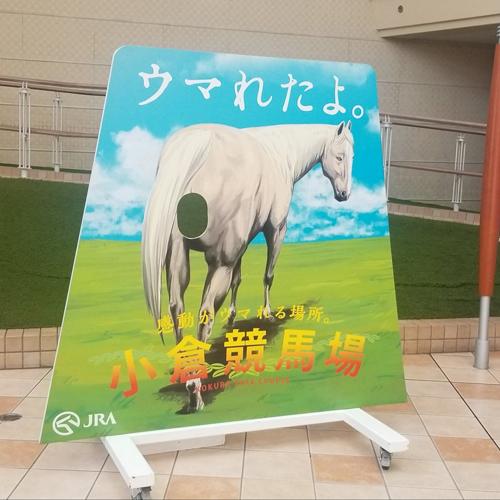 小倉競馬場の顔出しパネルが発想の勝利?ナニかが、ウマれそう……