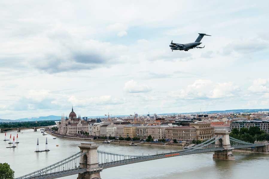 ハンガリー空軍のC-17(Armin Walcher/Red Bull Content Pool)