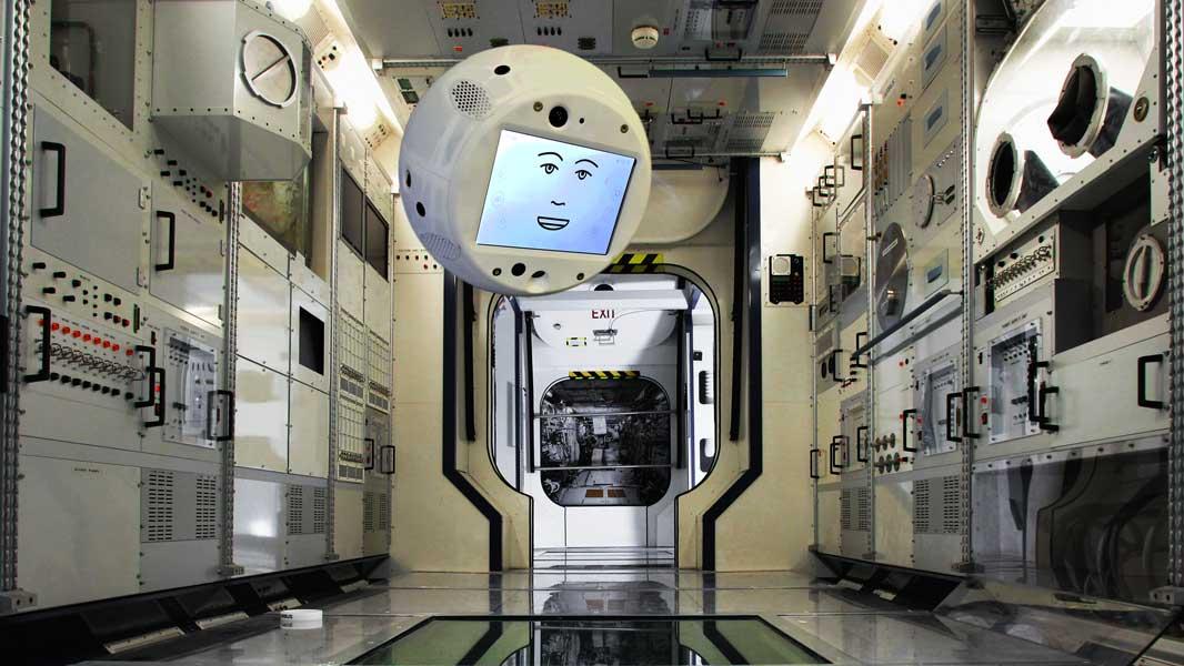 国際宇宙ステーションでのCIMONのイメージ(画像:Airbus)