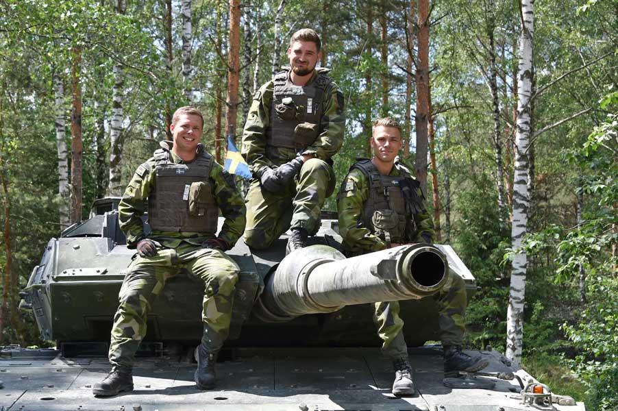 スウェーデンチームの戦車兵