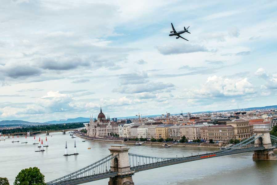 ハンガリー空軍のA319(Armin Walcher/Red Bull Content Pool)