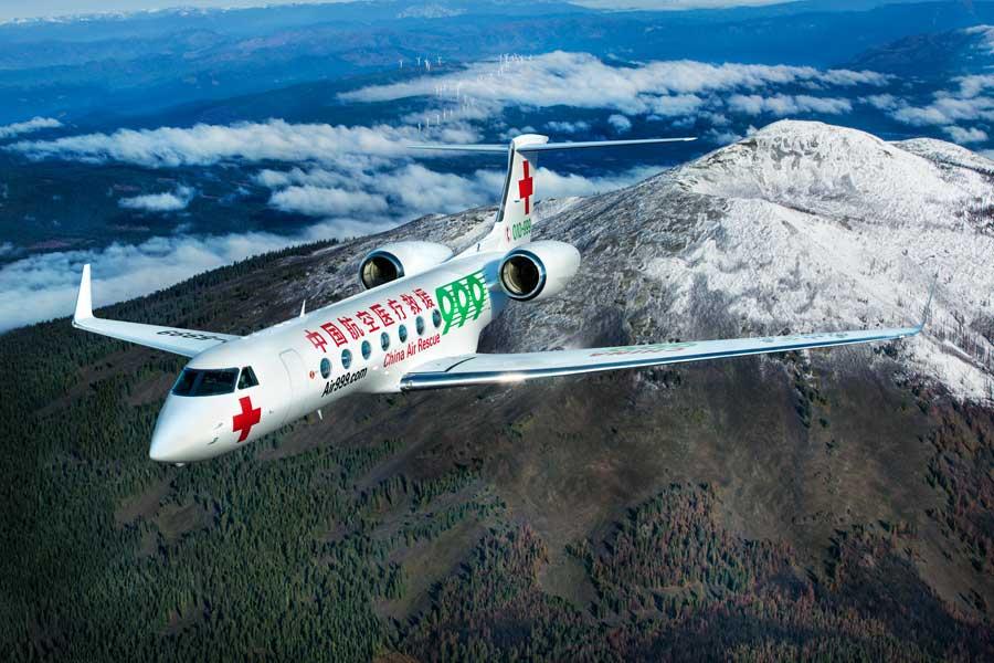 「空飛ぶICU」 中国赤十字が新型メディカルジェットとしてガルフストリームG550を導入