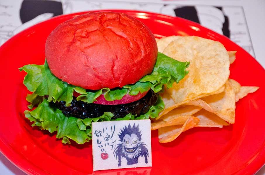 「DEATH-NOTE」リュークも大好きリンゴのバーガー(コンソメポテト添え)(C)大場つぐみ・小畑健/集英社