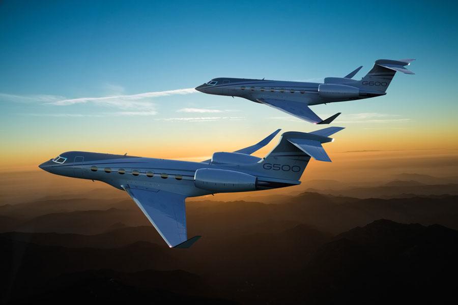 G500(手前)とG600(奥)(Image:Gulfstream)