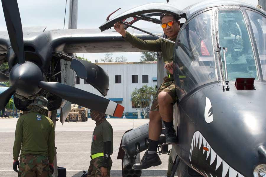 フィリピン空軍で現役のOV-10ブロンコ