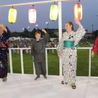米軍キャンプ座間で盆踊り大会 アメリカ兵が特訓の成果を披露
