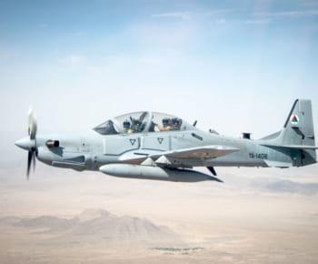 アメリカから供与されたアフガニスタン空軍のA-29。アメリカ時代の番号が薄く残る