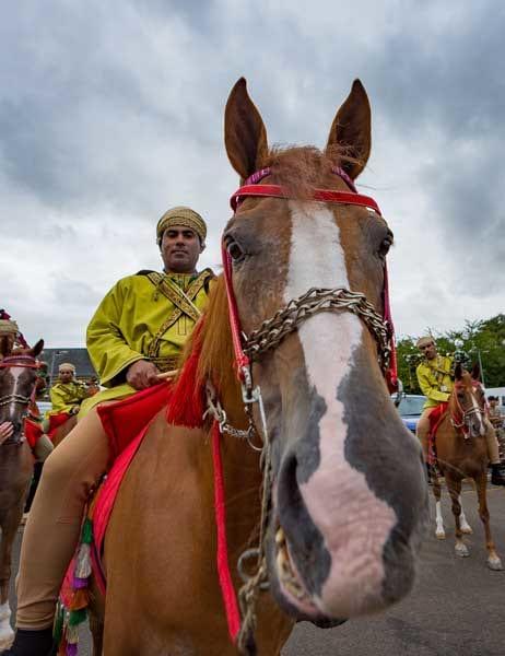 初参加となったオマーン陸軍の騎馬パイプ隊