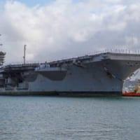 アメリカ海軍の空母3隻が配置転換