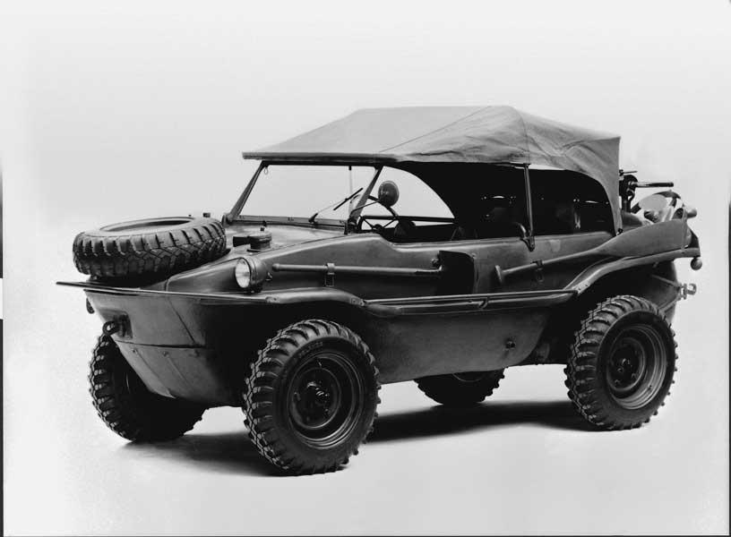 四輪駆動の水陸両用車シュビムワーゲン(Typ166・1944年仕様)