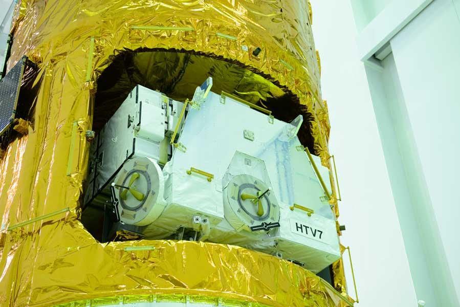 こうのとり7号機に搭載された日本製バッテリー(Photo:JAXA)
