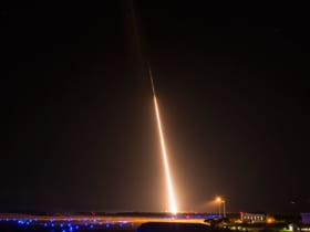 カウアイ島から発射されたミサイル標的(Image:DoD-MDA)