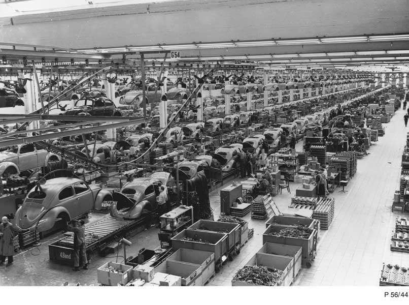 1956年の生産ライン