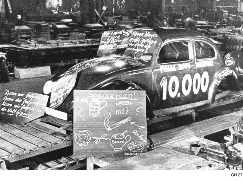 累計生産1万台目のフォルクスワーゲン