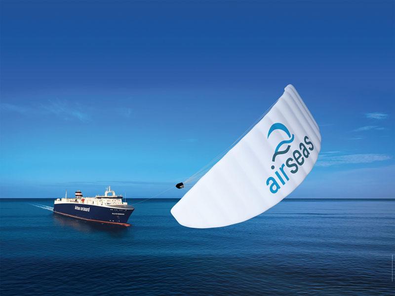 こんな帆船もあり?エアバスが大型船を「パラセーリング」