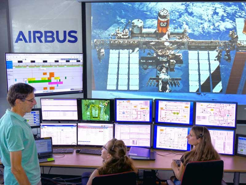ドイツの地上管制センター(Photo:Airbus)