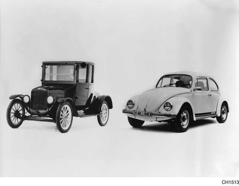 フォード・モデルTとフォルクスワーゲン