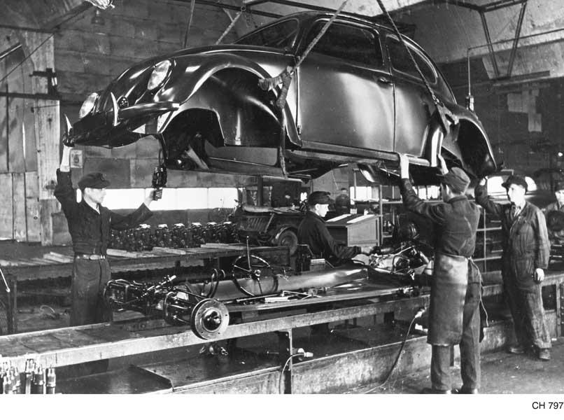 第二次大戦中の生産ライン