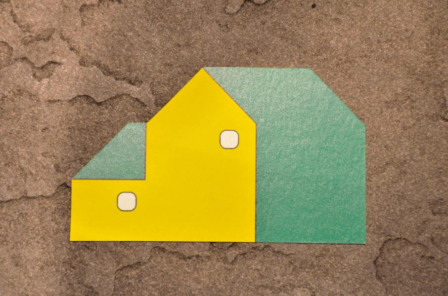 名刺の裏側は家の形