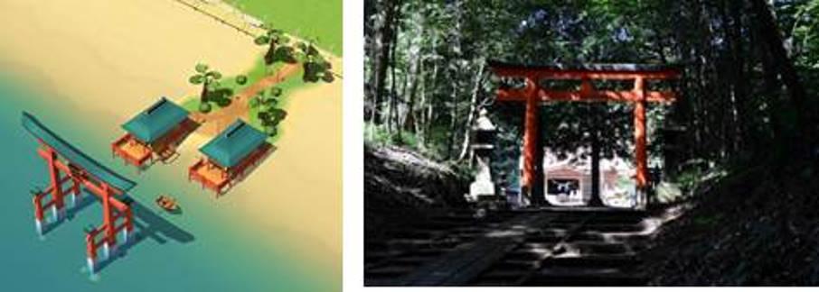霧島岑神社をモデルにした神社