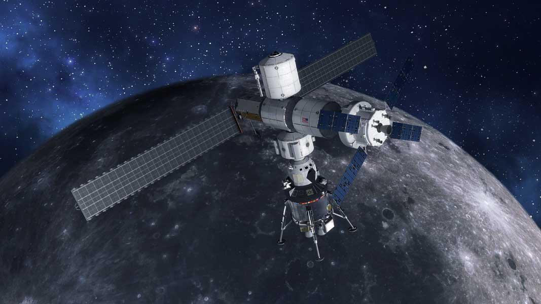 月軌道ステーション「GATEWAY」想像図(Image:Lockheed Martin)