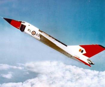 飛行するアブロCF-105アロー(Photo:RCAF)