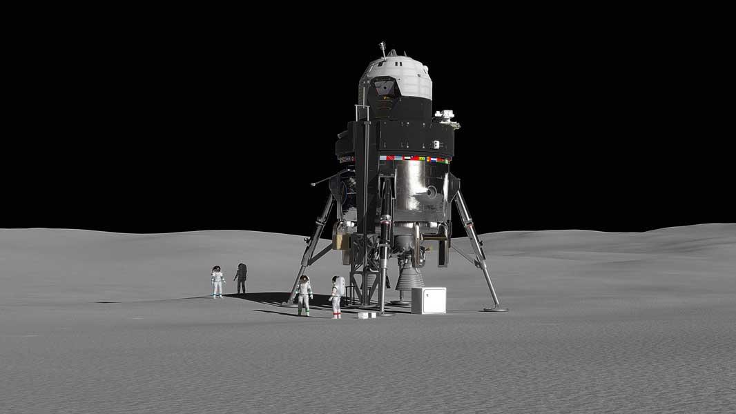 未来の月面基地はこんな感じ?ロッキード・マーティンが再利用型有人月着陸船を発表
