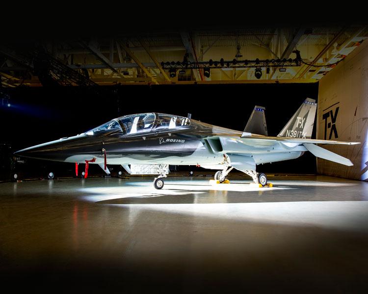 初公開時のボーイング/サーブT-X1号機(Image:Boeing)