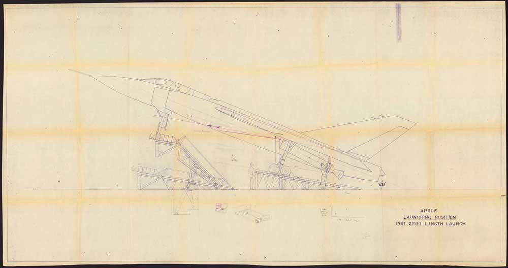 アブロ・アローのゼロ距離発進システム(Image:カナダ国立公文書館)