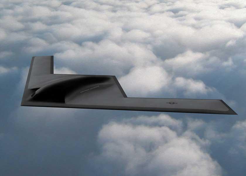 B-21の完成予想図(画像:Northrop Grumman)