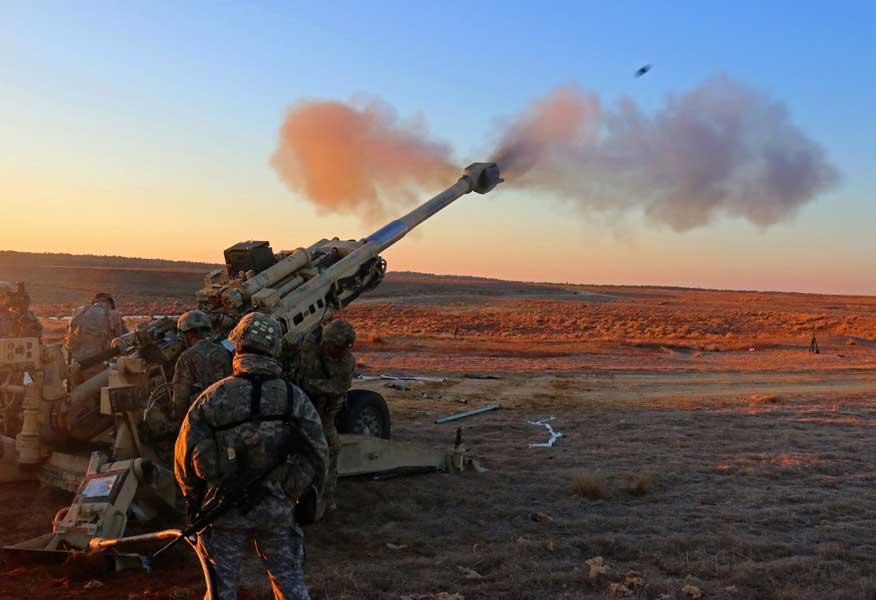アメリカ陸軍第82空挺師団第319空挺砲兵連隊第3大隊のM777A2(画像:U.S.Army)
