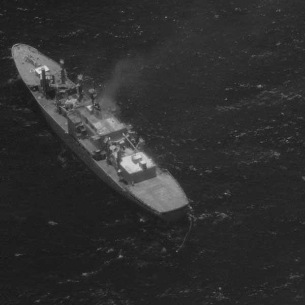 グローバルホークによる船舶の赤外線画像(画像:Northrop Grumman)