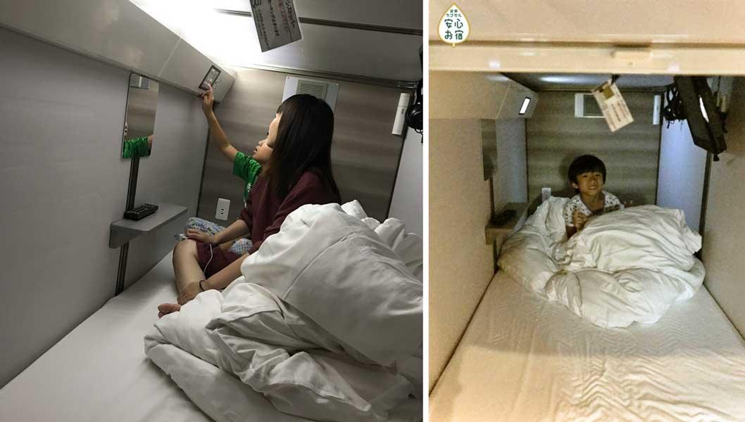 子供にとっては秘密基地か宇宙船! カプセルホテルの親子宿泊体験を「安心お宿」京都店が開始