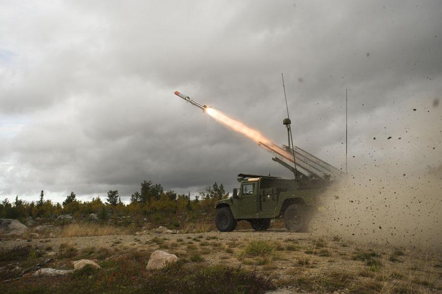 ノルウェー軍の地対空ミサイル型AMRAAM(画像:Raytheon)