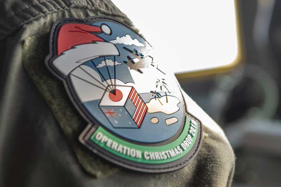 クリスマス・ドロップ作戦2018の記念パッチ(画像:USAF)