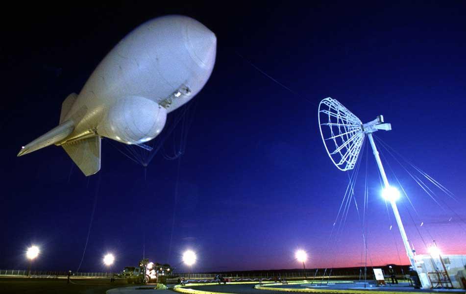 アメリカ国境警備隊で使われる監視用気球(画像:Lockheed Martin)