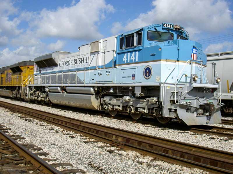 特別列車を牽引したユニオン・パシフィック鉄道SD70ACe形ディーゼル機関車4141号機(画像:Union Pacific Railroad)