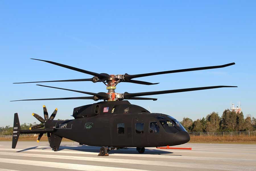 シコルスキーとボーイングが共同開発した次世代軍用ヘリコプター「SB>1ディファイアント」を公開