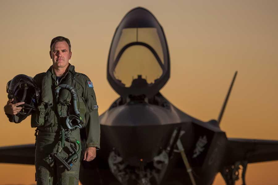 オーストラリア空軍初のF-35A飛行隊、第3飛行隊長のダレン・クレア中佐(画像:オーストラリア国防省)